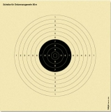 Scheibe Ordonnanzgewehr, reduziert auf 50 m Distanz bzw. 50 m Freie Pistole reduziert auf 25 m Distanz